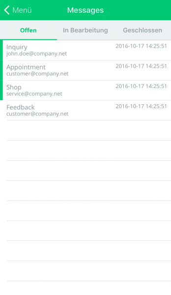 Connect App - Bestellungen und Anfragen von überall bearbeiten