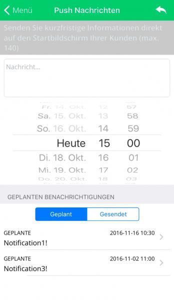 Connect App - Push Nachrichten mit dem Smartphone versenden