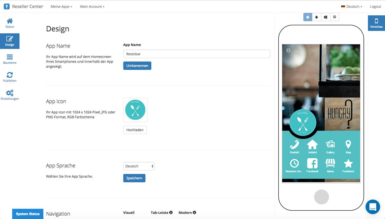 App-Baukasten für Unternehmens-App